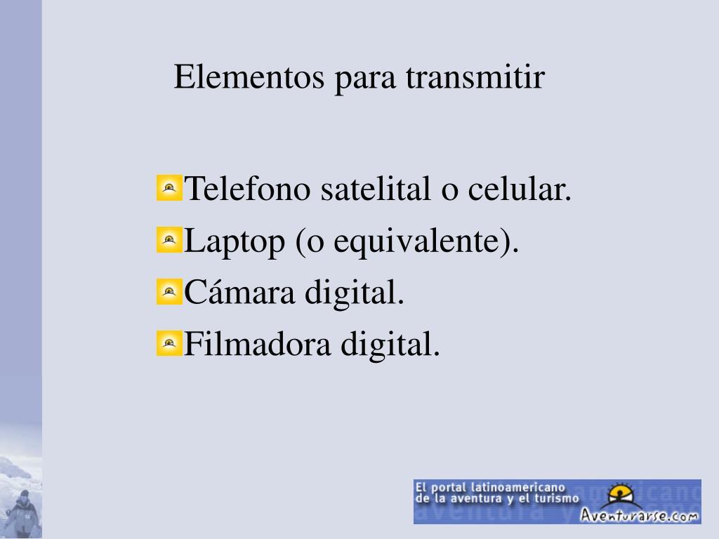 Elementos para transmitir