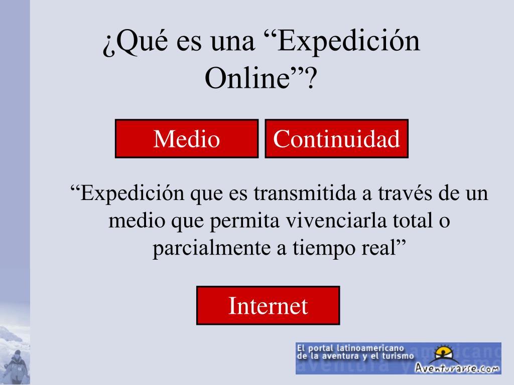 """¿Qué es una """"Expedición Online""""?"""