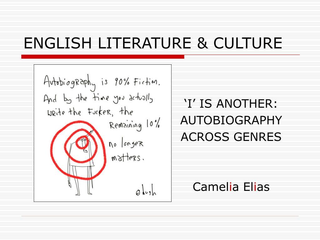 ENGLISH LITERATURE & CULTURE