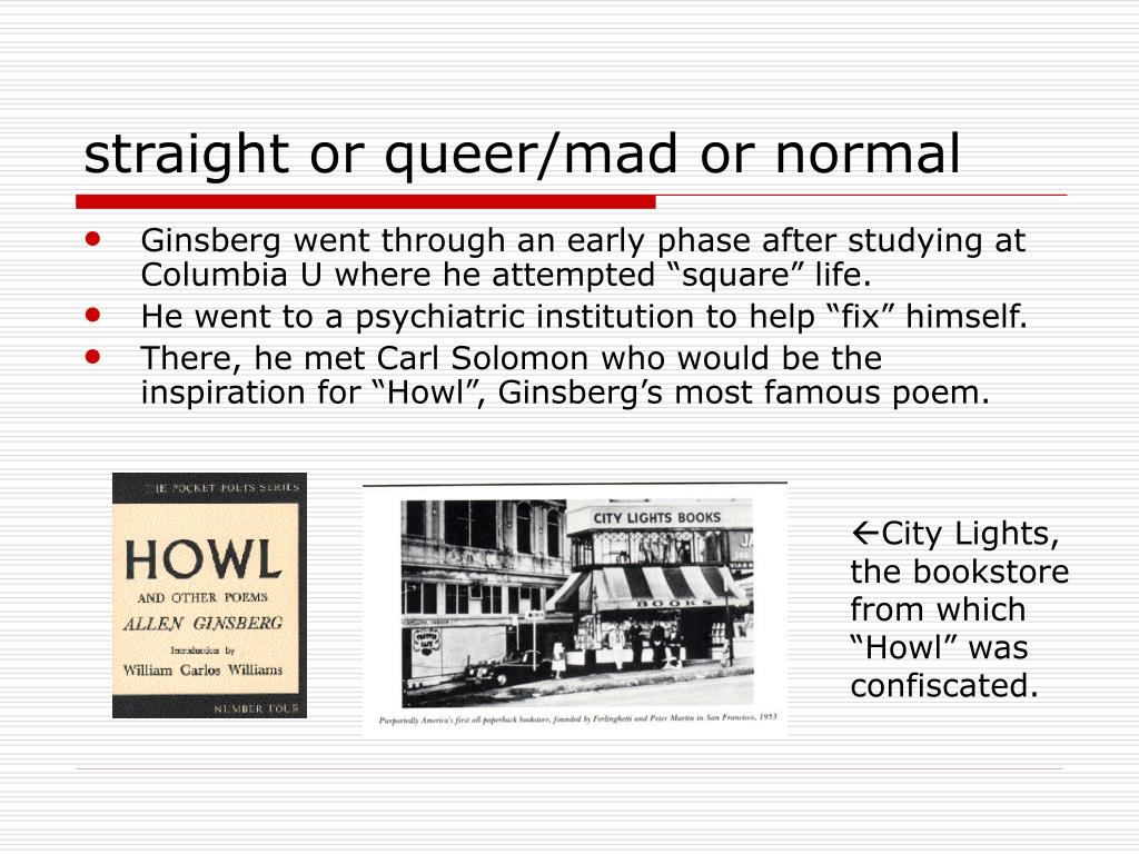 straight or queer/mad or normal