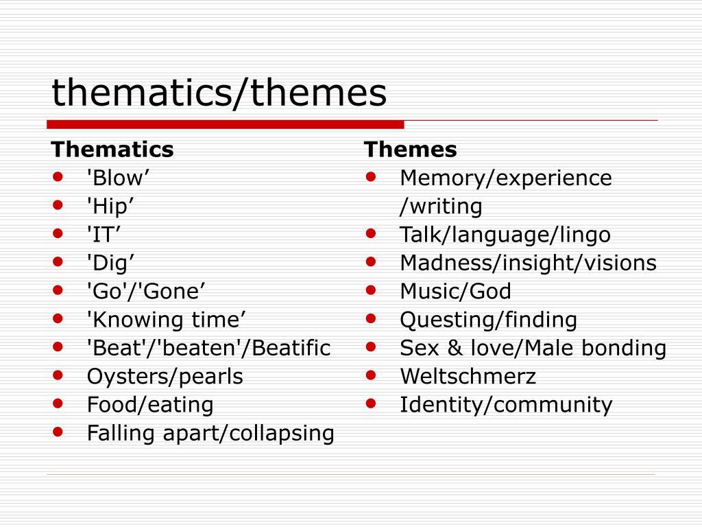 Thematics
