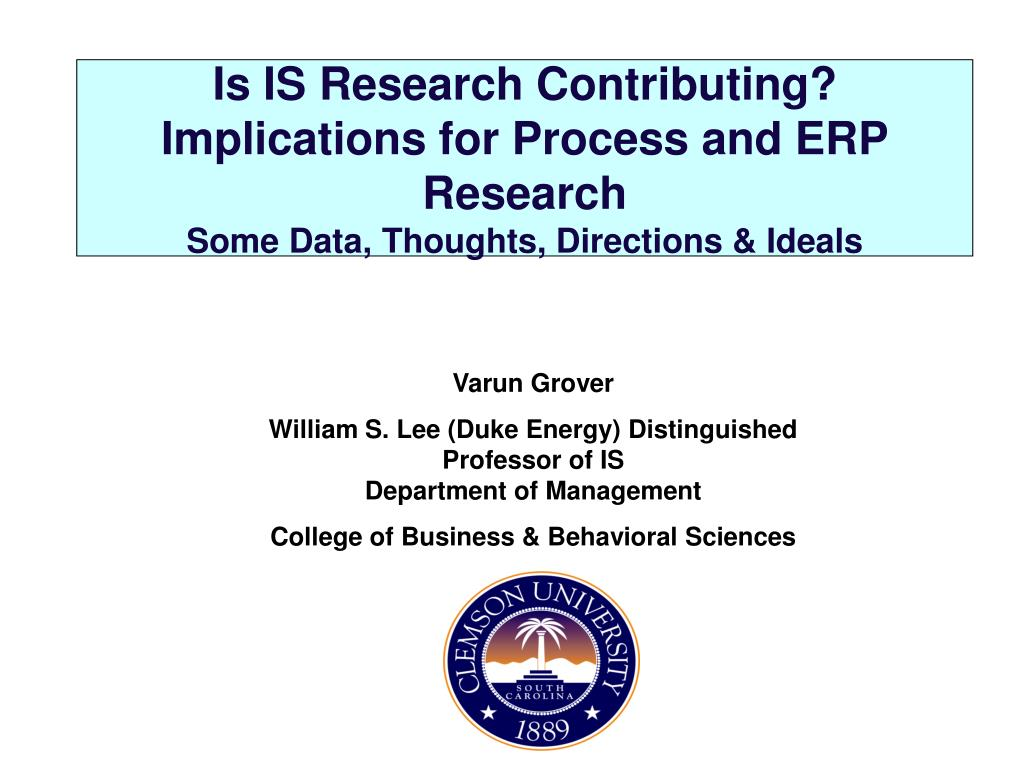 Is IS Research Contributing? Implications for Process and ERP Research