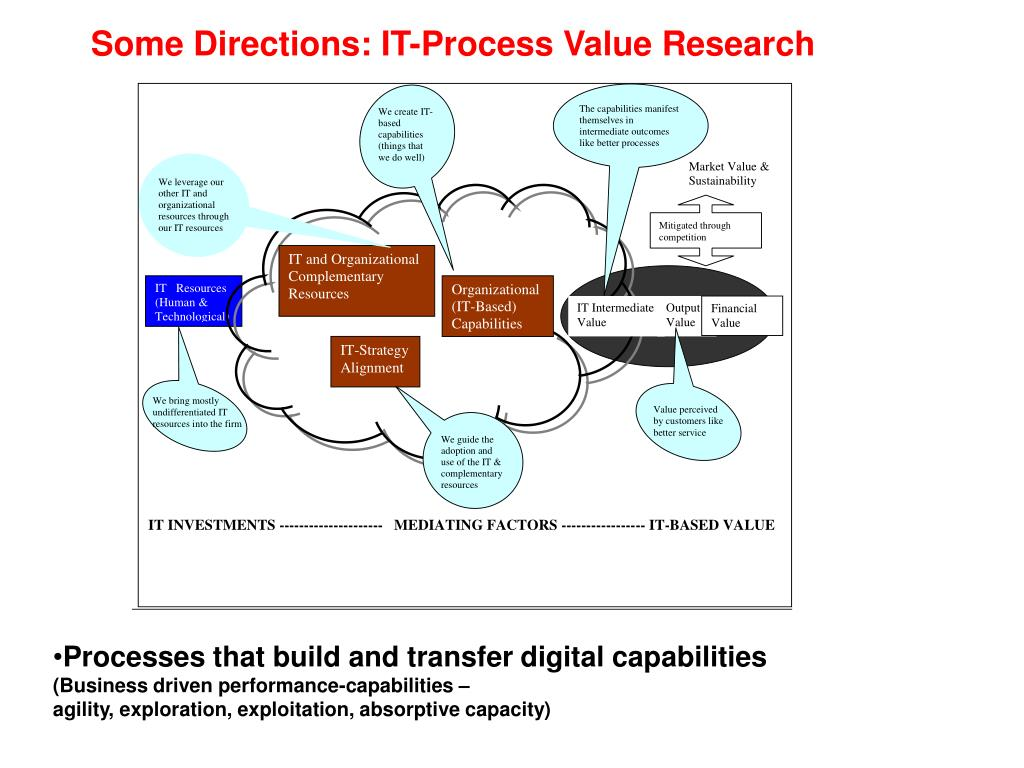 Some Directions: IT-Process Value Research