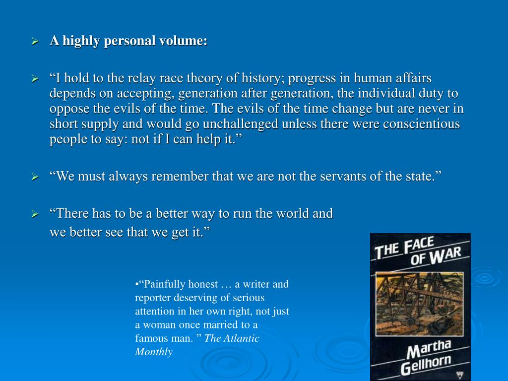 A highly personal volume: