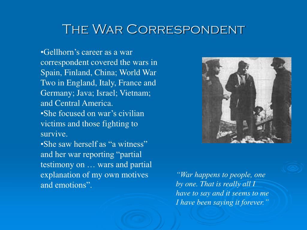 The War Correspondent