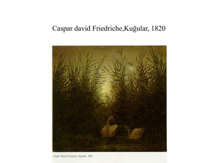 Caspar david Friedriche,Kuğular, 1820