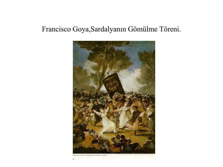 Francisco Goya,Sardalyanın Gömülme Töreni.