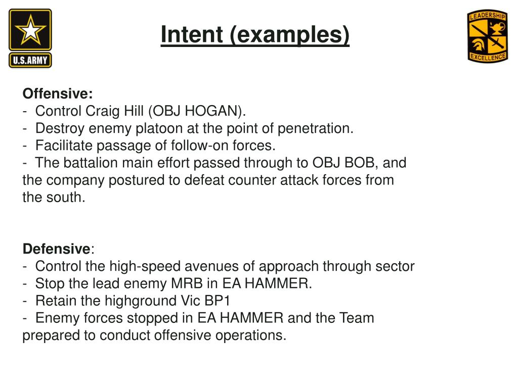 Intent (examples)