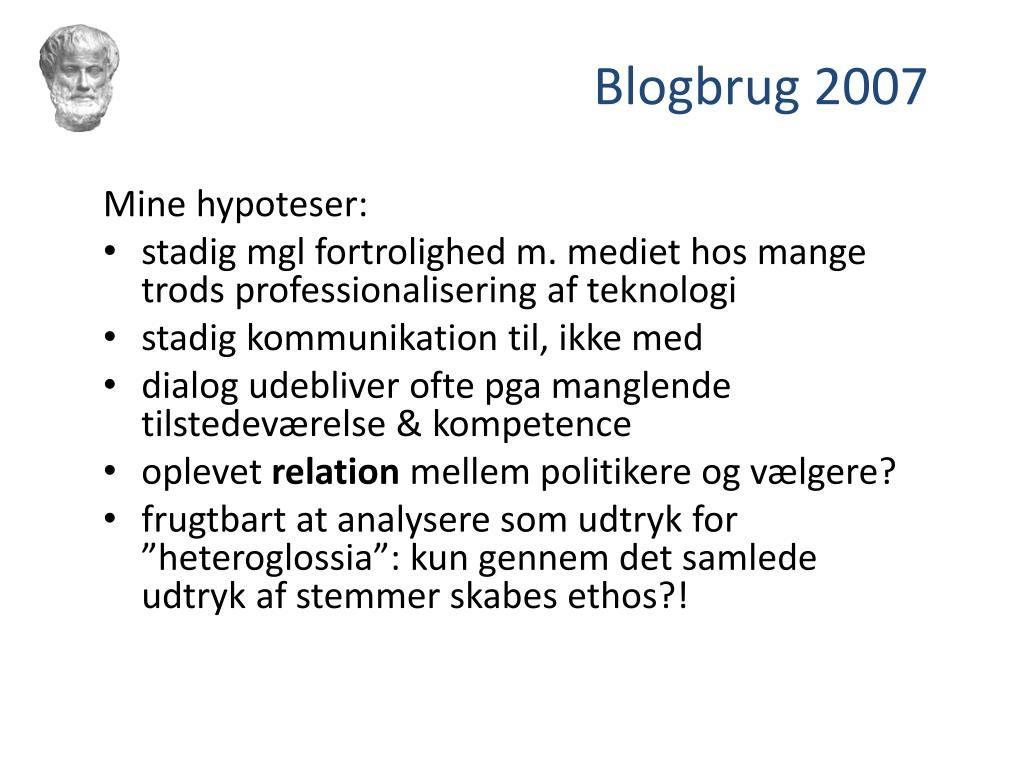 Mine hypoteser: