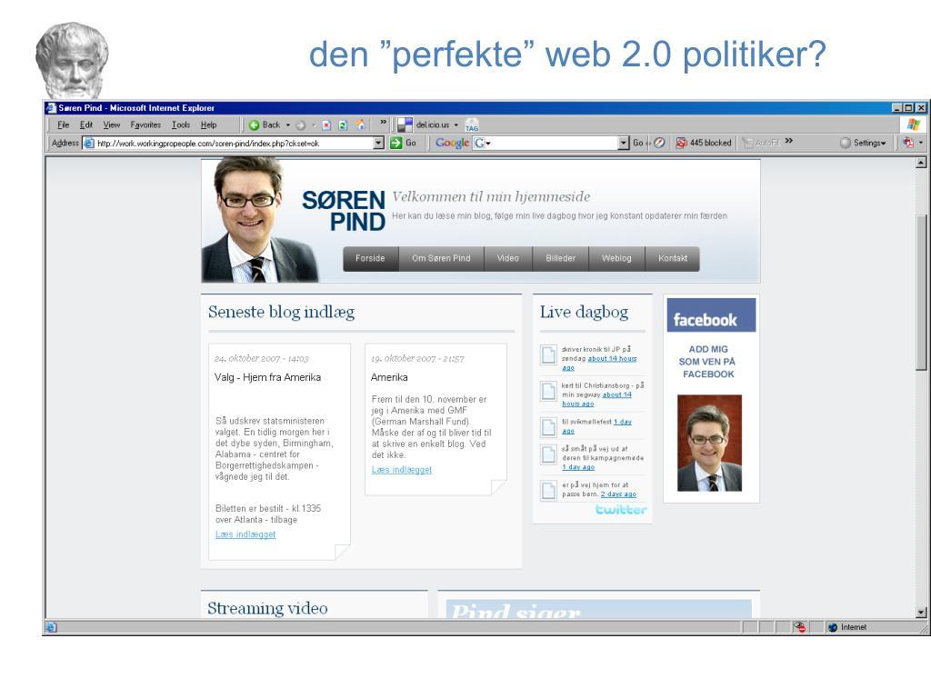 """den """"perfekte"""" web 2.0 politiker?"""