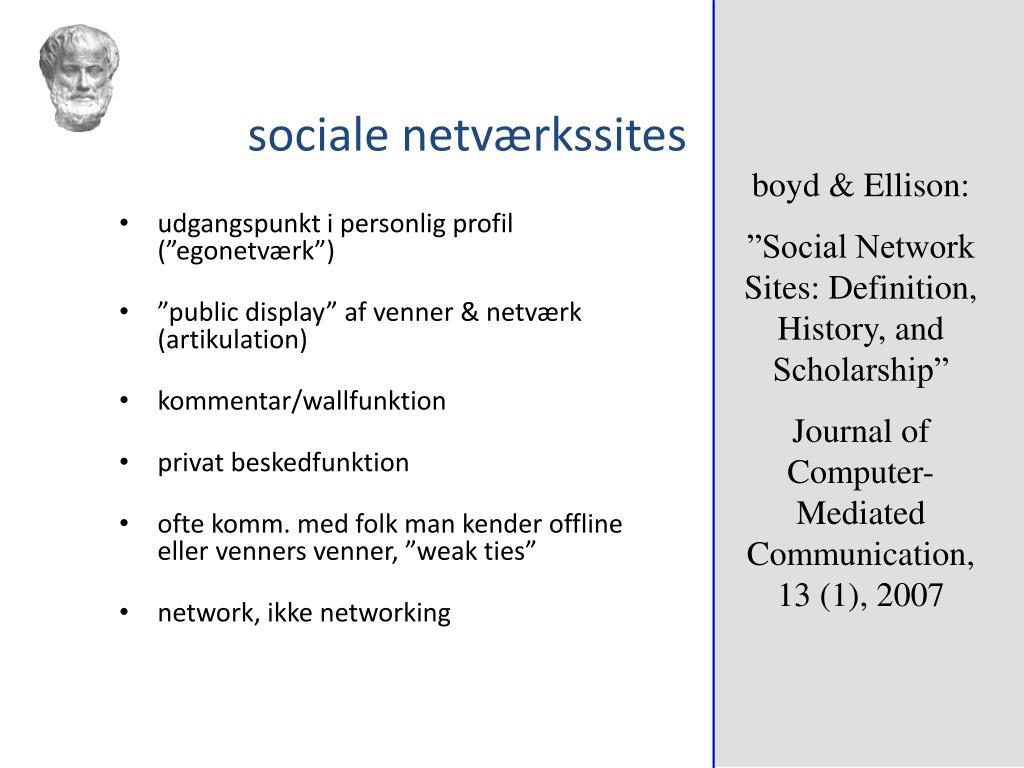 sociale netværkssites