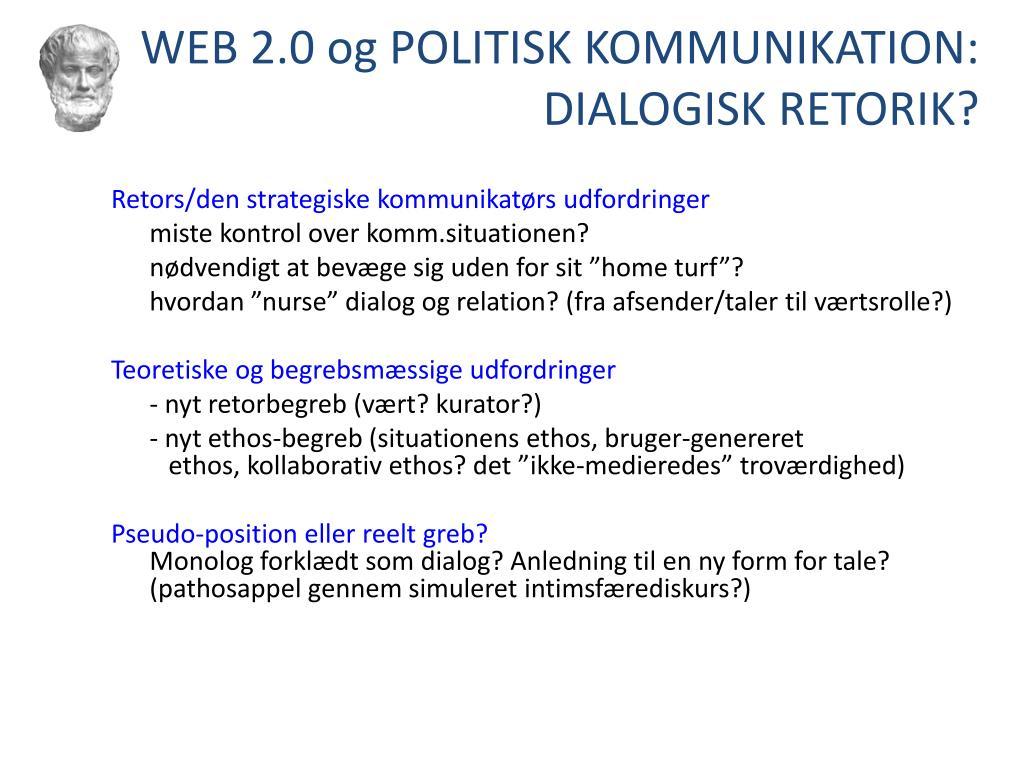 WEB 2.0 og POLITISK KOMMUNIKATION: