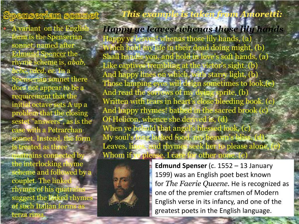Spenserian sonnet