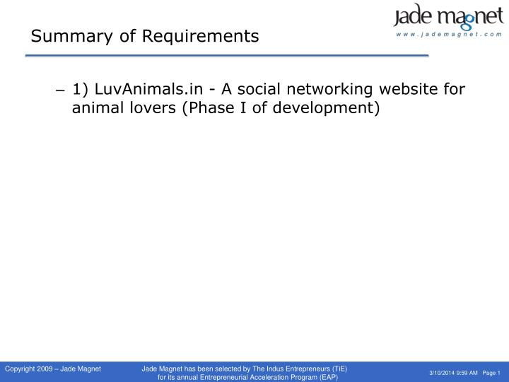 Summary of requirements l.jpg