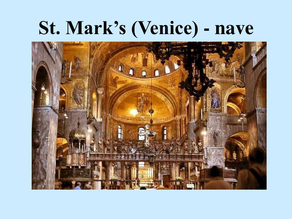 St. Mark's (Venice) - nave