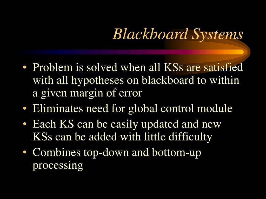 Blackboard Systems