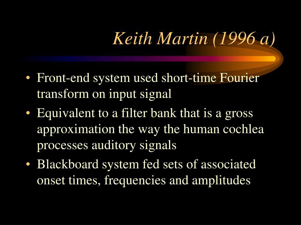 Keith Martin (1996 a)