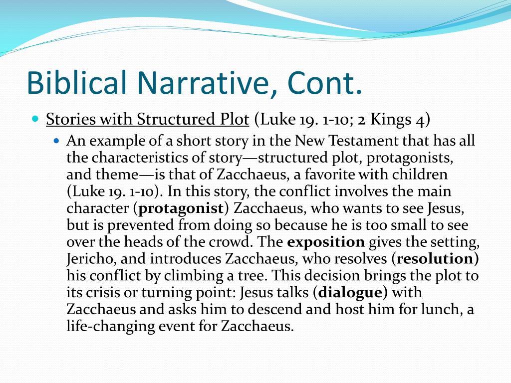 Biblical Narrative, Cont.