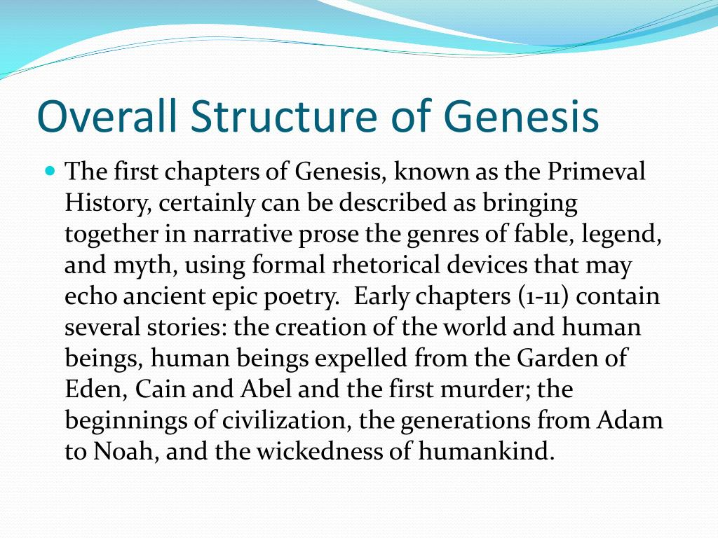 Overall Structure of Genesis