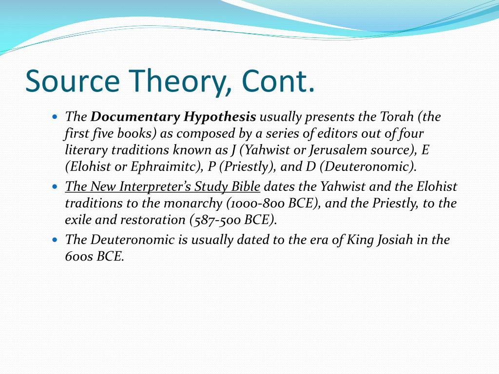 Source Theory, Cont.