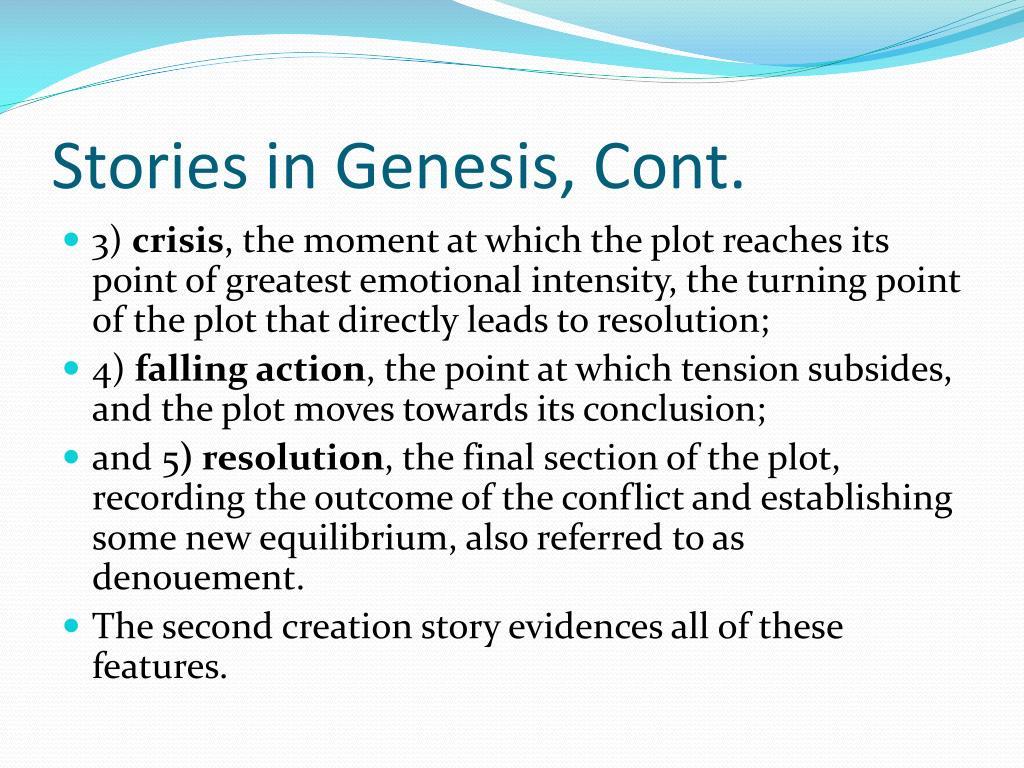 Stories in Genesis, Cont.