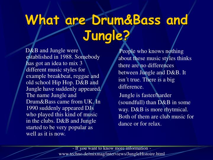 What are drum bass and jungle l.jpg