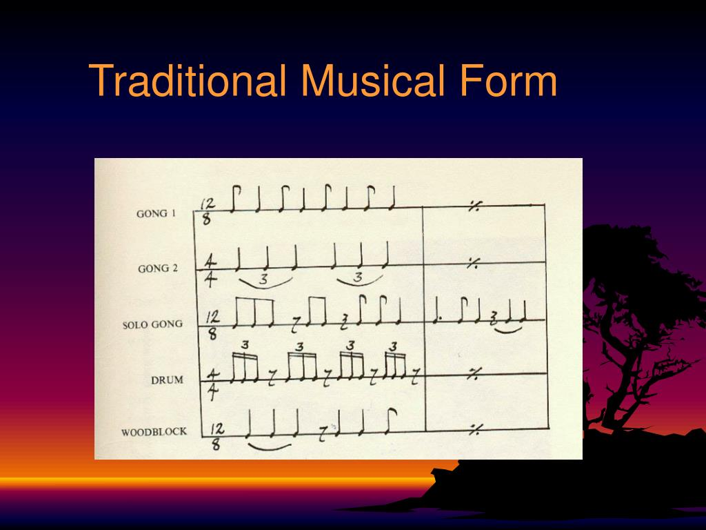 Traditional Musical Form