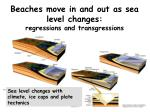beaches move in and out as sea level changes regressions and transgressions