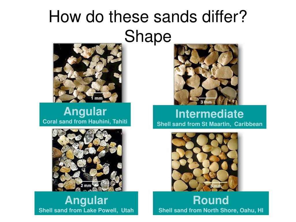 How do these sands differ?
