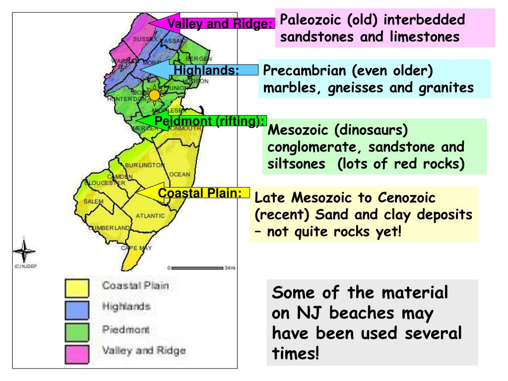 Paleozoic (old) interbedded sandstones and limestones