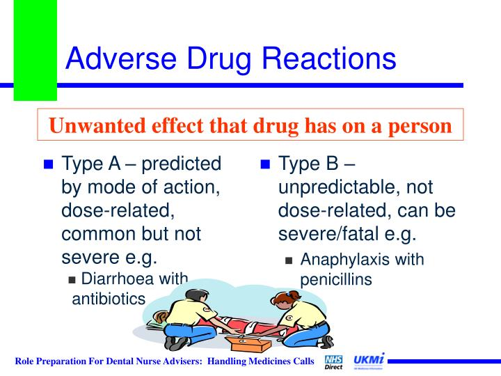 Type A – predicted by mode of action, dose-related, common but not severe e.g.