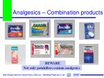 analgesics combination products