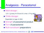 analgesics paracetamol