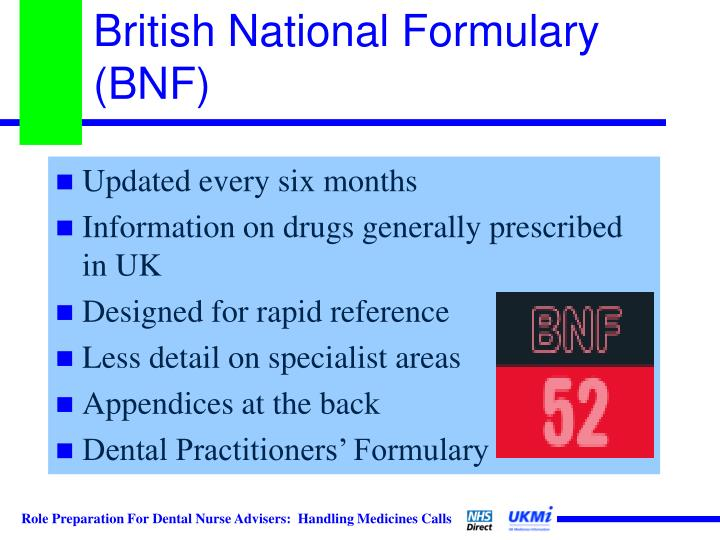 British National Formulary (BNF)