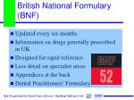 british national formulary bnf