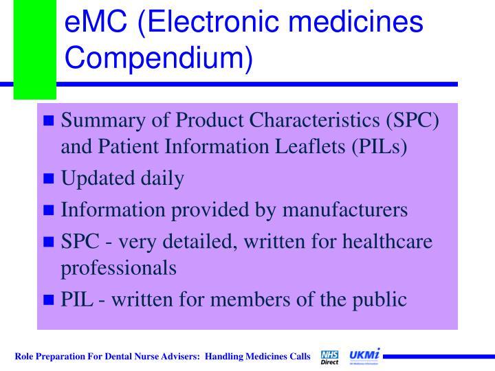 eMC (Electronic medicines Compendium)
