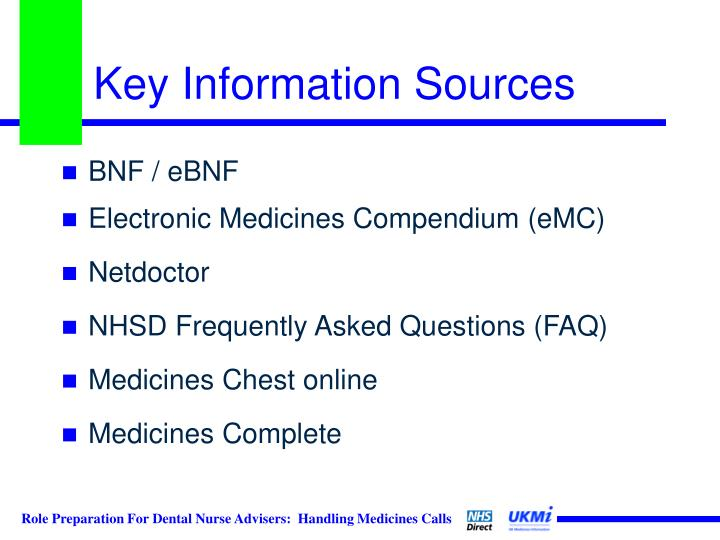 Key Information Sources