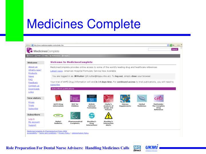 Medicines Complete