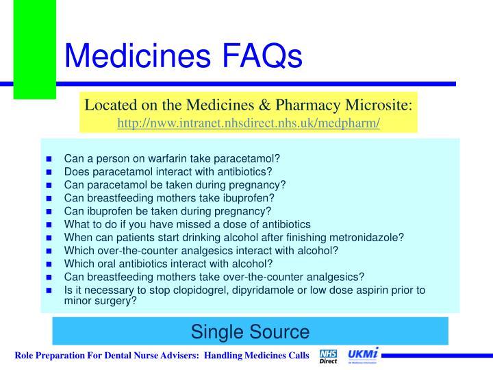 Medicines FAQs