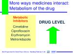 more ways medicines interact metabolism of the drug1