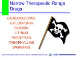 narrow therapeutic range drugs