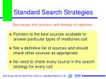 standard search strategies