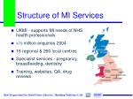 structure of mi services