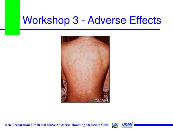 Workshop 3 - Adverse Effects