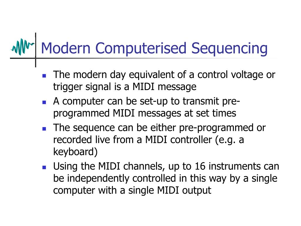 Modern Computerised Sequencing