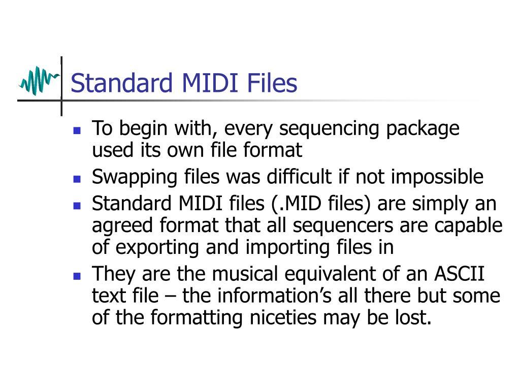 Standard MIDI Files