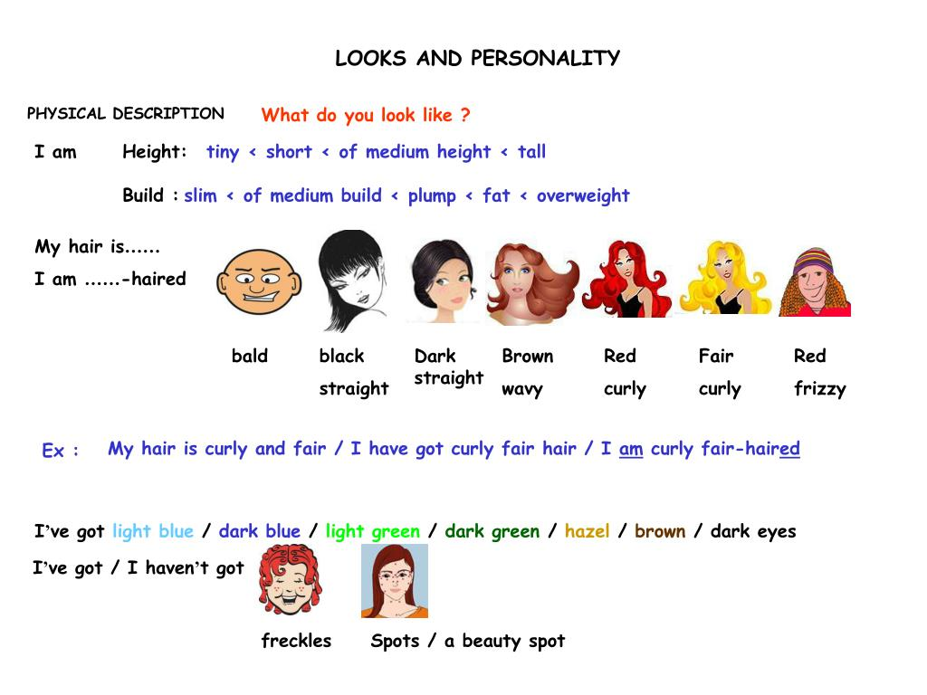 LOOKS AND PERSONALITY