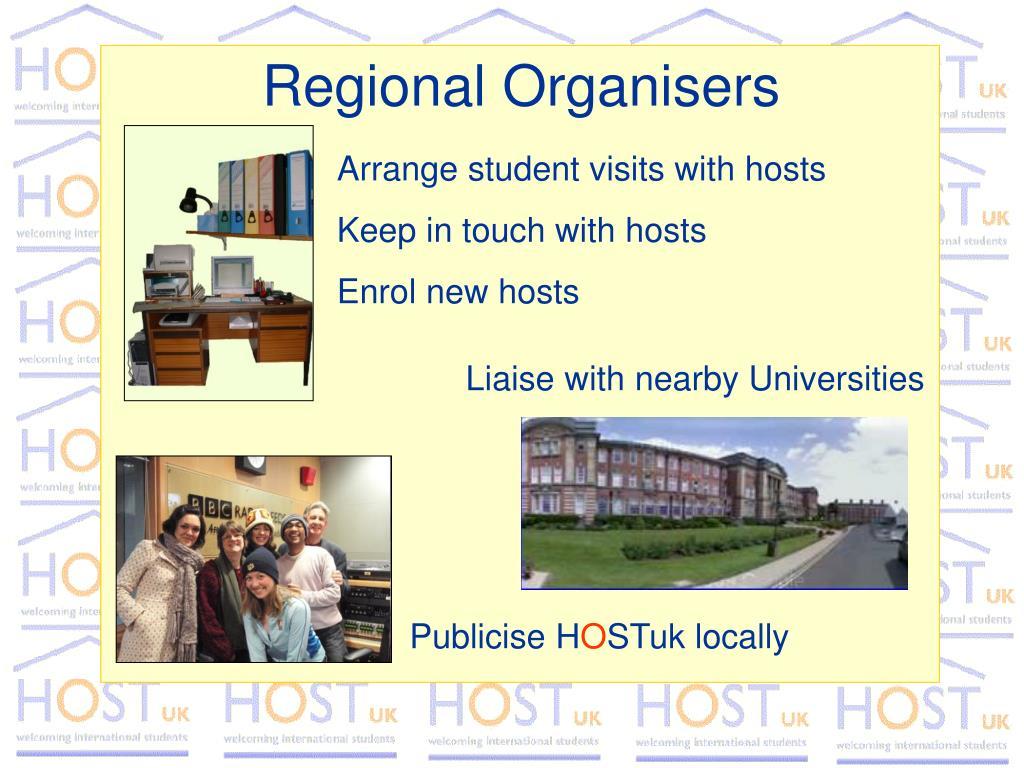 Regional Organisers