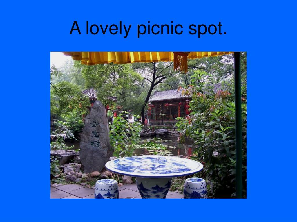 A lovely picnic spot.