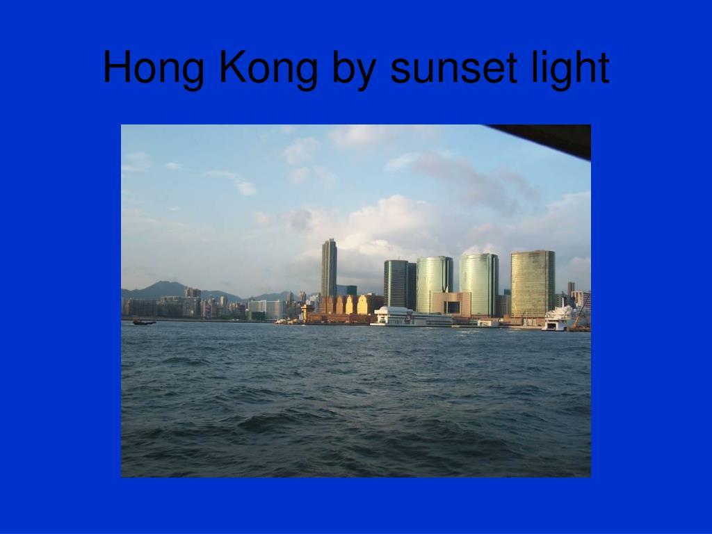 Hong Kong by sunset light